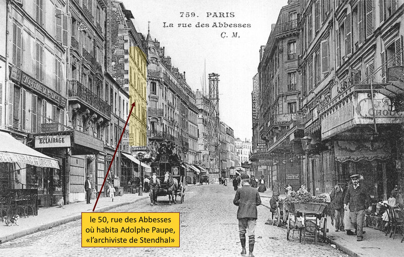 rue des Abbesses, vers 1910, Adolphe Paupe