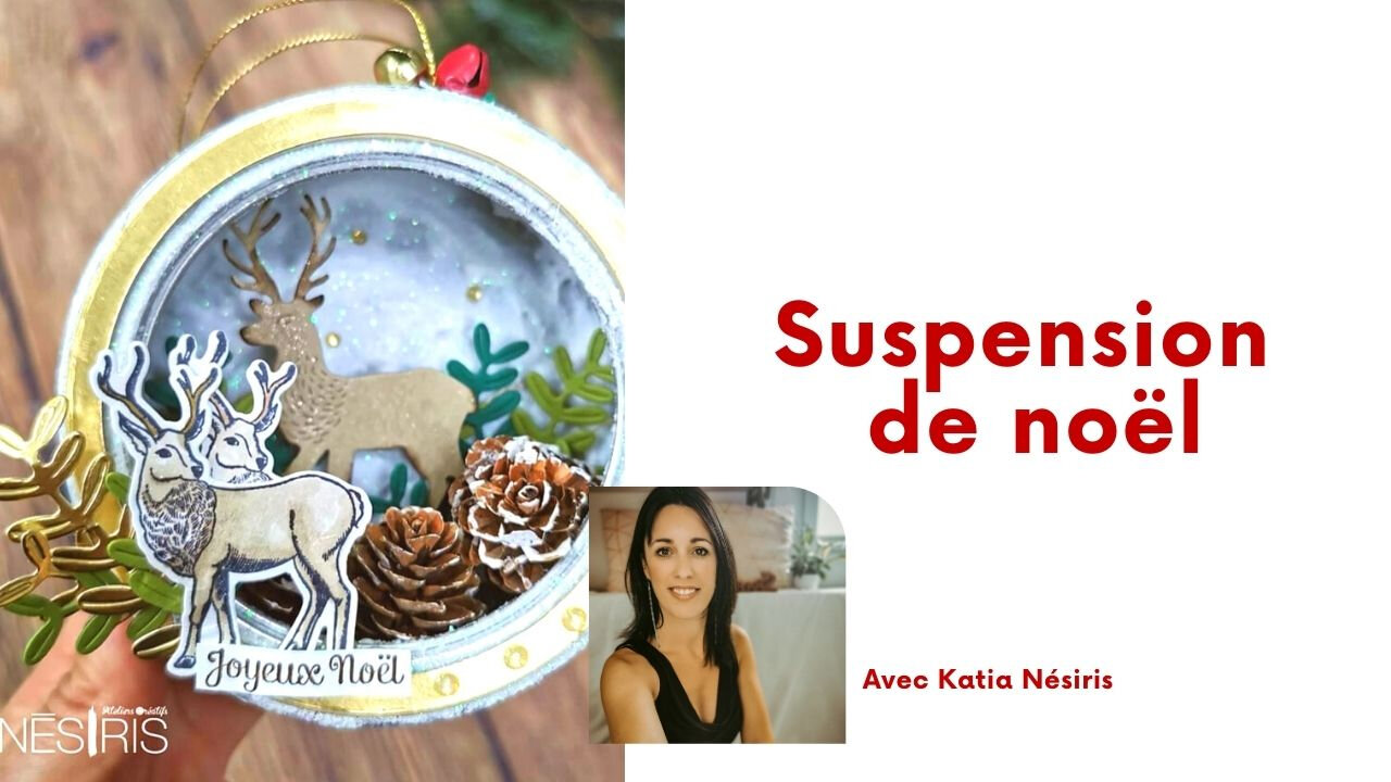 Tutoriel Suspension de noël façon Scrapbooking