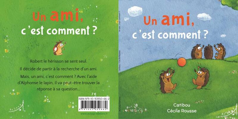 Un ami c'est comment Catibou Cécile Rousse couv
