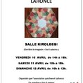 Patch lahonce s'expose les 10-11-12 avril