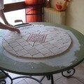 Table en marbre vieilli