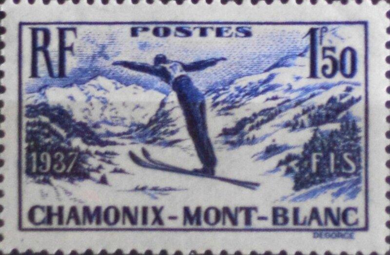 Timbre Chamonix 1924