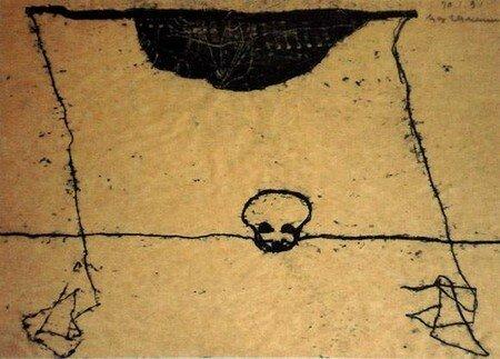 NEUMANN Max - Sans titre - Monotype sur papier