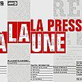 La presse à la une