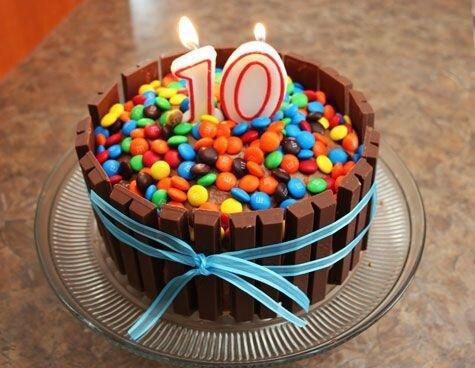 déco gâteau anniversaire fille 10 ans 3