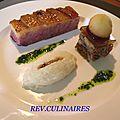 magret de canard au miel, mousseline de celeri 1