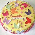 Gâteau Papillons
