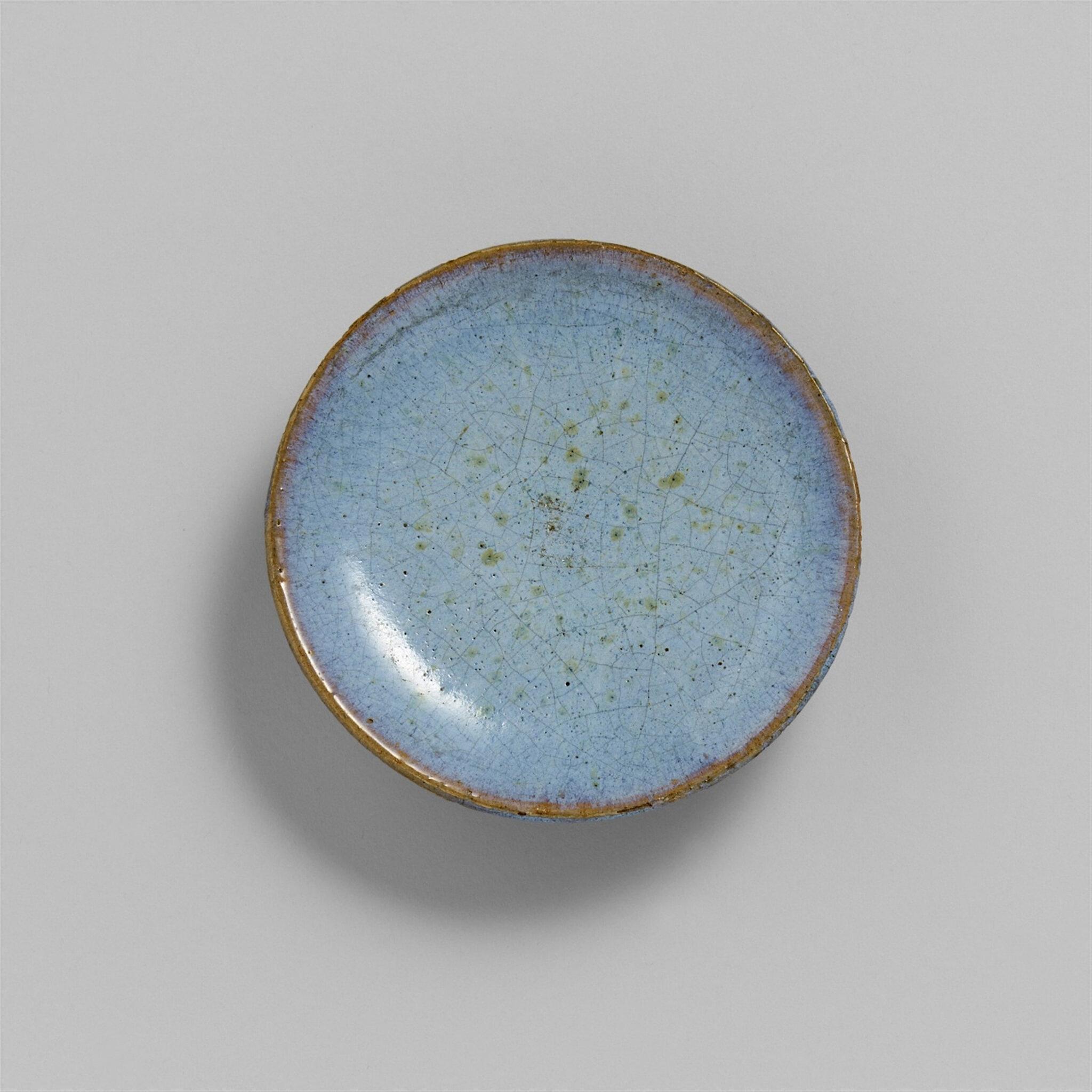 A small shallow junyao dish, Yuan dynasty (1280-1368)