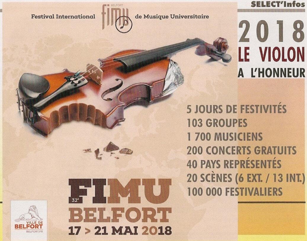 Belfort, FIMU 2018,le programme de la 32e édition et son invité, le violon