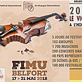 Belfort, fimu 2018, 32ème édition le violon