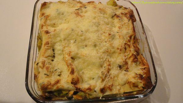 Lasagnes de saumon, poireaux et gorgonzola (5)