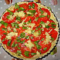 Tarte tomate / ail/ basilic & mozza