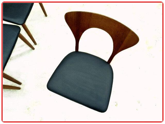 chaises N. Koeffoed teck 1950