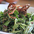 Salade d'herbes sauvages