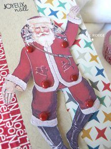 Carte père Noël détail 2