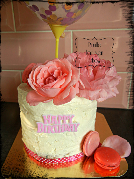 gateau prunille rose et ballon prunillefee 4