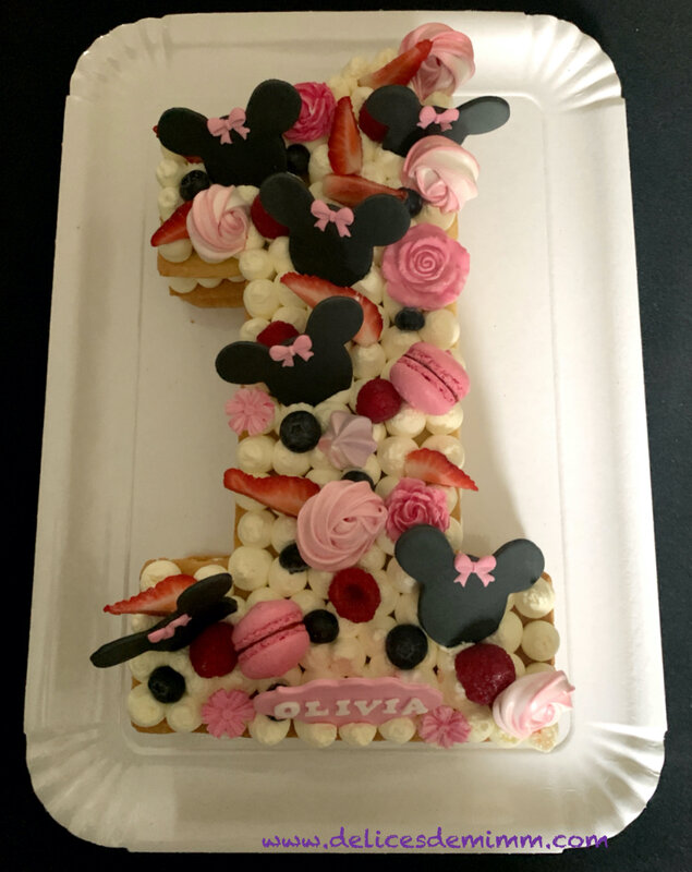 Number Cake Minnie 1 Olivia