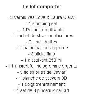 composition du lot