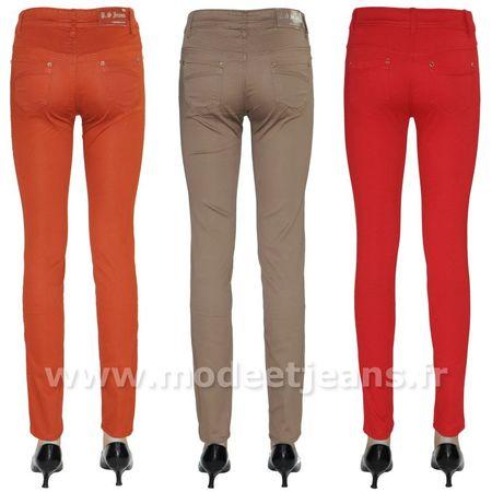 Pantalon slim couleur