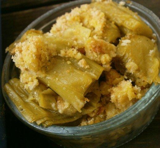 Martine - Crumble de poireaux au curry