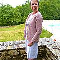 Gilet estival coton et lin (taille 40/42)