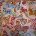 Culotte BIANCA en coton blanc imprimé papillons multicolores - noeud ciel (3)