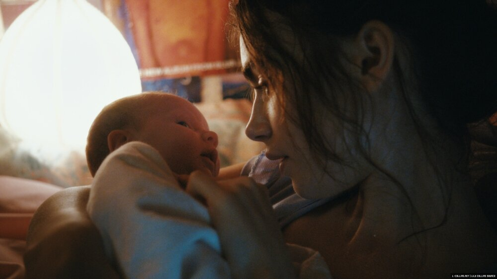 Lily Collins and baby Rosie movie