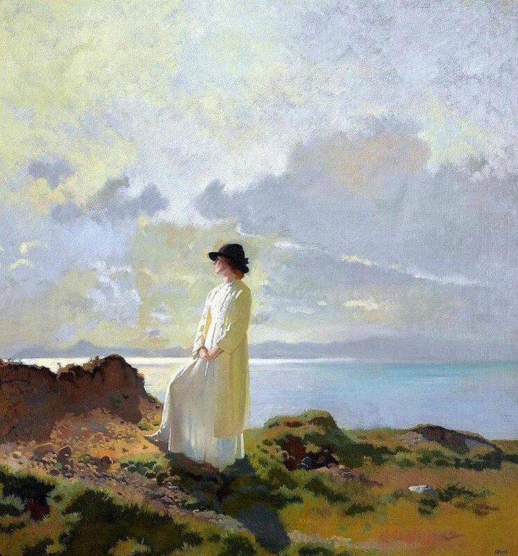 1912, On the Cliff, Dublin Bay, Morning