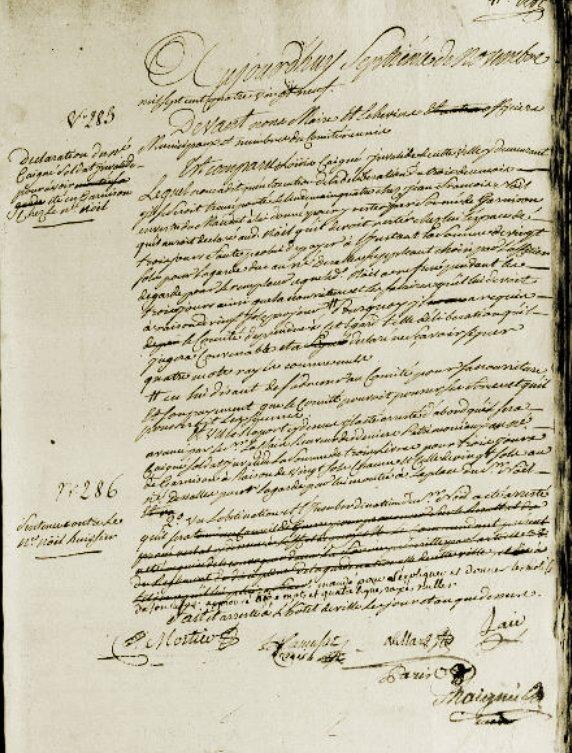 Le 7 novembre 1789 à Mamers : Le Père Noël doit s'expliquer.