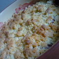 Crumble d'autome: rhubarbe, pommes, framboises