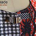 Gilet sans manches femme Bustier Couture femme noir rouge pois carreaux vichy mod 07D copier
