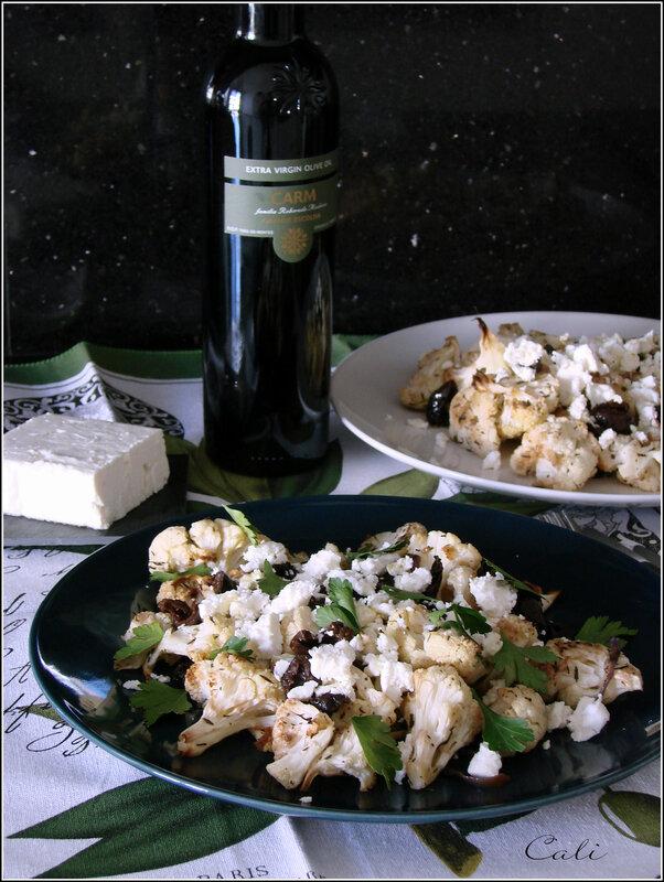Salade de Chou-Fleur Grillé, Feta & Olives Noires 002