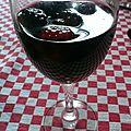 Soupe de fruits rouges au vin rouge