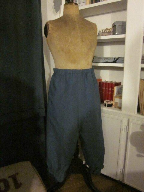 Panty BENEDICTE en lin gris bleu (3)