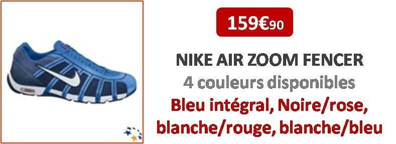 Chaussures d'escrime NIKE Air Zoom Fencer EscrimeStar, le
