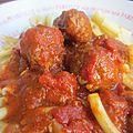 Boulettes boeuf & veau à la sauce tomate