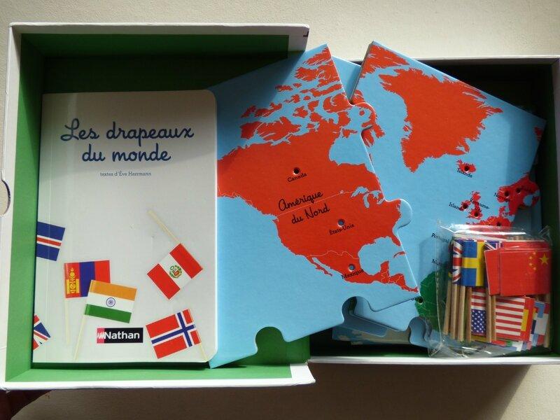 Mon coffret Montessori des drapeaux du monde 1