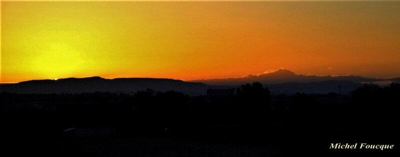 lever de soleil sur Mont Blanc