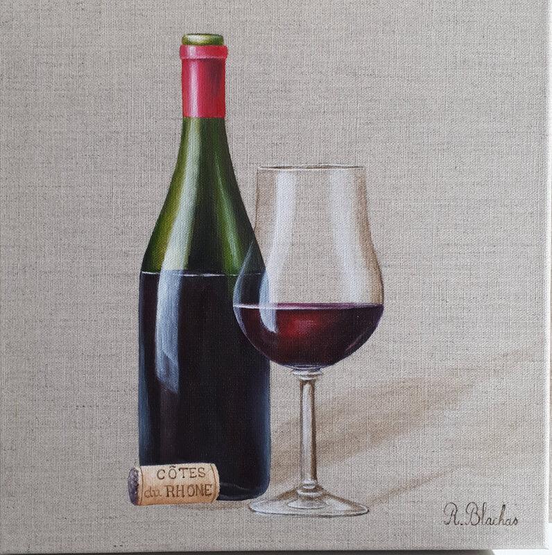 2019 glass of wine 12 30x30cm