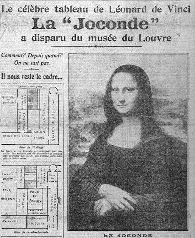 """Résultat de recherche d'images pour """"la Joconde vol"""""""""""