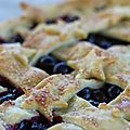 Blueberry pie ou tarte à la myrtille américaine.