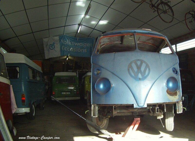 restauration combi split vintage camper face avant a louer 4