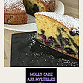 Molly cake aux myrtilles ( 260 cal/par part)