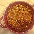 crumble aux pommes et beurre salé sans gluten