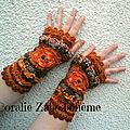 Plus disponible mitaines originales femme, mitaines femme laine crochetées main, mitaines gants féerique bohème unique