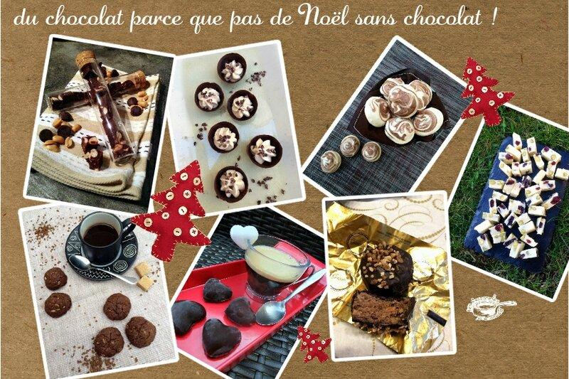 recap douceurs noel chocolat (scrap)