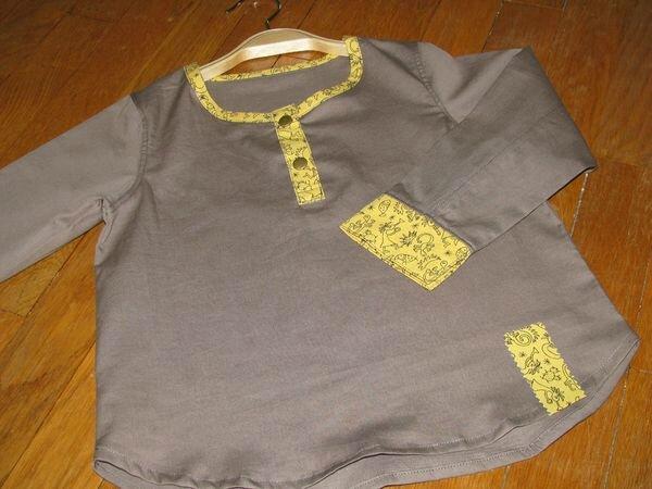 Blouse à carreaux - Collection privée Filles & Garçons