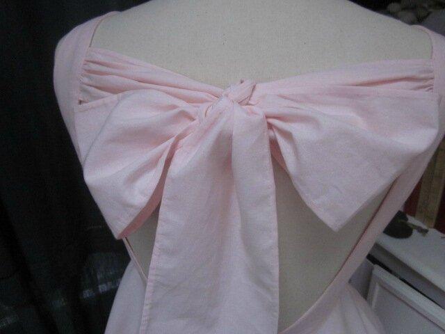 Robe SALOME en coton rose pâle - taille 42 (4)