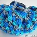 Mini sac boule bleu 3