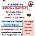 Affiche Conférence Frelons asiatiques CAUDROT 28 mars 2017